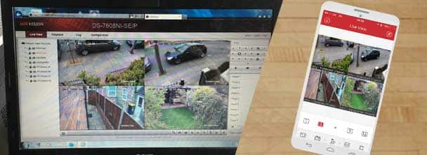 Manage CCTV with your phone or laptop